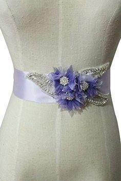 Lemandy Unique Crystal Applique Wedding Dress Belt with Organza Flowera Bridal Sash A26 (light purple) Lemandy http://www.amazon.co.uk/dp/B015R0B78G/ref=cm_sw_r_pi_dp_Rpkiwb0VVWJW7