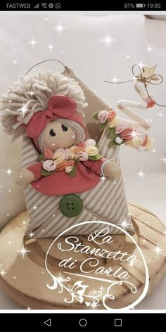Corsage, Womens Scarves, Puppets, Decoupage, Diy And Crafts, Christmas Crafts, Shabby Chic, Clay, Easter