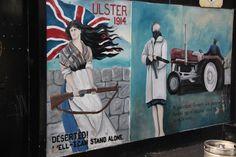 Belfast - Mural of the very british Shankill neighborhood, iconography of resistance.