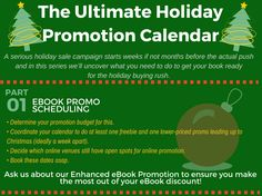 The ultimate holiday promotion calendar #christmascountdown #bookmarketing