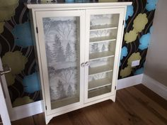 Second hand cabinet, just added some wallpaper on the back