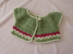 VERY EASY crochet baby / girl's summer bolero tutorial - crochet cardigan ༺✿ƬⱤღ✿༻