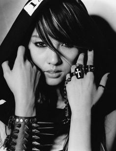 "Lee Hyori for album ""Dark Angel"" Lee Hyori, Diva Fashion, Editorial Fashion, Korean Fashion, Butterfly Books, Korean Star, Family Outing, Korean Outfits, Beautiful Models"