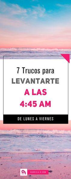Trucos para levantarte a las 4:45am todos los días #productividad #5amclub