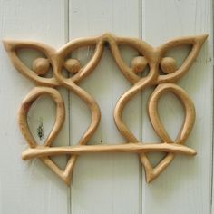 Double Owl Knot Wood Carved Knot of Transition by signsofspirit, $108.00