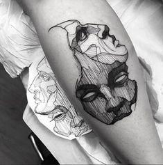 Model Tattoos, Body Art Tattoos, Small Tattoos, Sleeve Tattoos, Tatoos, Future Tattoos, Tattoos For Guys, Tattoos For Women, Mask Tattoo