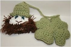 Crochet Leprechaun and Shamrock