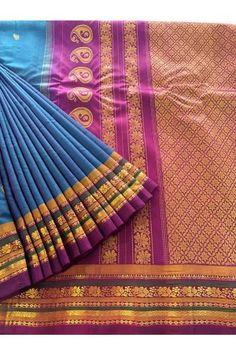 Classic Gadwal Pure Silk Cotton Saree