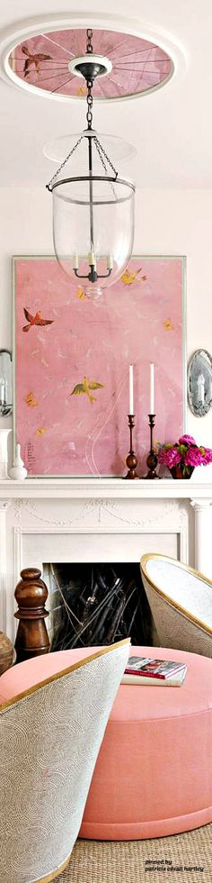 Rose House, Lets Stay Home, Pink Home Decor, Types Of Rooms, Pink Houses, Cozy Corner, Small Space Living, Book Nooks, Decor Styles
