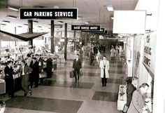 Inside the terminal at Essendon Airport in the 1960s.
