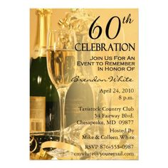 Custom Champagne Celebration Birthday Invitations created by NightSweatsDiva. This invitation design is available on many paper types and is completely custom printed. Bubble Birthday Parties, 50th Birthday Party, Birthday Ideas, Birthday Celebration, Birthday Cakes, Fiftieth Birthday, Birthday Brunch, Blue Birthday, Birthday Party Invitation Wording