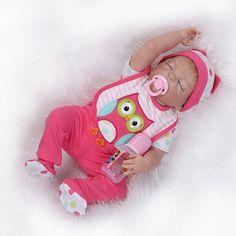 98.97$ Buy here - http://alicsy.worldwells.pw/go.php?t=32570062206 - 57CM full body silicone reborn baby dolls/Realistic sleeping reborn babies boneca baby alive original