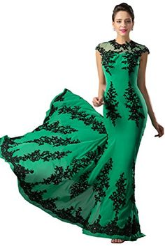 Angel Bride Charming Mermaid Appliques Mother of the Bride Dress Evening Dress6Green ** For more information, visit image link.