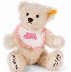 steiff bears | Personalised Steiff Bear - Personalised teddy bear - baby girl ...