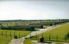 Rows of POW sleeping quarters at Auschwitz Concentration Camp - Poland