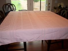 Tablecloth 90s Pink Tablecloth Excellent by SuzyQsVintageShop, $11.75