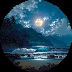 Jewel Of The Night is part of Beautiful moon - Limited Edition Giclee on CanvasSigned And NumberedHandEnhanced by the ArtistUnframedEdition Size Size 25 x 25 (Mounted on stretcher bars) Beautiful Moon, Beautiful World, Beautiful Places, Moon Pictures, Pretty Pictures, Moon Fases, Foto Gif, Shoot The Moon, Belle Photo