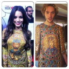 Who wore it better? Vanessa Hudgens or Toby Regbo? Don't worry, I'm pretty sure this Dolce & Gabbana was meant for Adelaide Kane. ;)