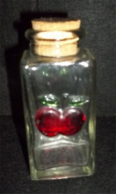 Glass Apple Spice Bottle  (This pic is from my own collection!)  I own 2 of these.