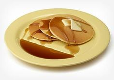 Perfect plate for pancakes! Elevated on one side so your breakfast never gets too soggy :)