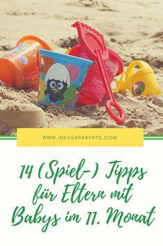 Dein Baby ist 11 Monate alt? Über Wassermaler, den Strand zuhause und Kletterburgen in der Wohnung erfährst Du mehr auf unserem Blog!  #ideas4parents #spielerischlernen #baby #entwicklung #familie #tipps