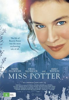"""'Miss Potter' (2006) The true story of Beatrix Potter, the author of the beloved and best-selling children's book, """"The Tale of Peter Rabbit"""", and her struggle for love, happiness and success. Stars: Rene Zellweger and Ewan McGregor. Wonderful!"""