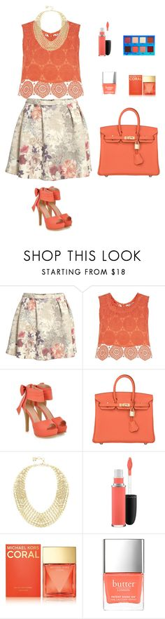 """""""#38"""" by nada-shraim ❤ liked on Polyvore featuring H&M, Related, JY Shoes, Hermès, BCBGMAXAZRIA, MAC Cosmetics, Michael Kors, Butter London, Lime Crime and women's clothing"""