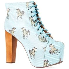 Jeffrey Campbell Lita Unicorn Platform Boots ($98) ❤ liked on Polyvore featuring shoes, boots, jeffrey campbell, platform boots, jeffrey campbell shoes, jeffrey campbell footwear and platform shoes