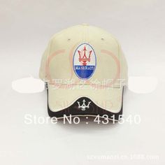 3e924fb4982 F1 Maserati logo cotton sports car racing hat baseball caps sun visor  cotton caps 4 colors