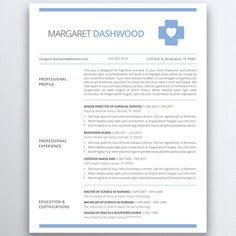 Resume Template For Pages Nurse Resume Template For Modern Professionalssuitable As