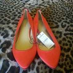 Red Orange Flats Very Comfortable and Stylish Flats Express Shoes Flats & Loafers