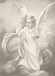 Beautiful little Angel. Fairy Coloring Pages, Adult Coloring Pages, Coloring Books, Pencil Drawings, Art Drawings, Vintage Illustration, Angel Drawing, I Believe In Angels, Angel Pictures