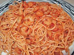 Σπαγγέτι με γαρίδες και βασιλικό(4 μονάδες) Cookbook Recipes, Cooking Recipes, Spaghetti, Ethnic Recipes, Food, Cross Stitch, Punto De Cruz, Chef Recipes, Essen