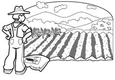 Coloring Page farmer Farm Coloring Pages, Free Coloring Sheets, Toddler Learning, Toddler Activities, Firefighter Clipart, Champs, Santa Crafts, Autumn Crafts, Business Pages