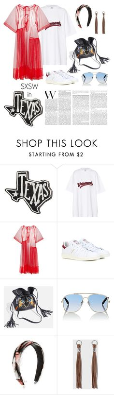"""SXSW in Fashion"" by windrasiregar on Polyvore featuring Primitives By Kathy, Vetements, Molly Goddard, adidas Originals, Topshop, Victoria Beckham, Gigi Burris Millinery and Pamela Love"