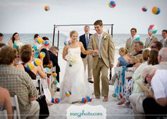 Instead of bubbles or confetti. We could use beach balls for the seeing off.
