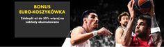 Oferta Bet365 Euro-Koszykówka na zakłady akumulowane daje Ci szansę zdobycia bonusu aż do 50% na zakłady akumulowane na najlepsze europejskie rozgrywki w koszykówce. http://www.darmowe-automaty-do-gry.com/aktualnosci/bonus-euro-koszykowka #bet365 #darmoweautomaty #bonuseurokoszykowka #aktualnosci