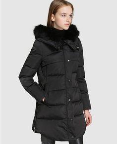 8dc0536845eb4 Plumífero de mujer Easy Wear con capucha con pelo Moda Online