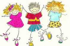 cute stick figure kids in this e kitchen free images | Cartoon pictures of kids at school pictures 1