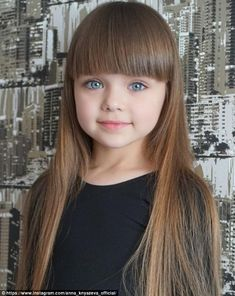 In 2017 child model Anastasia Knyazeva, who was just six at the time, rose to fame for her. Cute Little Baby Girl, Cute Little Girls Outfits, Little Girl Models, Beautiful Little Girls, Beautiful Long Hair, Child Models, Beautiful Children, Cute Girls, Little Girl Pictures