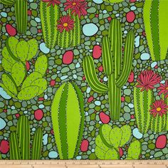Alexander Henry Folklorico Verde Green from @fabricdotcom  Designed by De Leon Design Group for Alexander Henry, this cotton print is perfect for quilting, apparel and home decor accents. Colors include pink, white, black, light blue and shades of green.