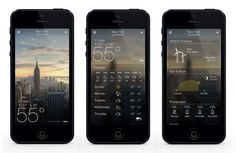 brand new Yahoo! weather app #UX #UI #interface #design #app #iphone