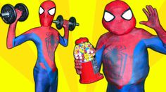 Spiderman FATTY or SKINNY! Superhero Workout Overweight Spiderman in Rea...