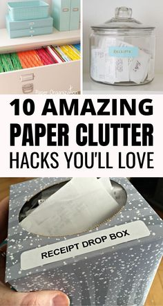 10 Best Paper Clutter Organization Hacks – Craftsonfire These paper clutter organization ideas are GENIUS! Such simple solutions that help to declutter and get your home in order. Definitely worth trying these paper clutter storage ideas! Receipt Organization, Do It Yourself Organization, Office Organization At Work, Clutter Organization, Paper Organization, Business Organization, Office Ideas, Organizing Hacks, Home Organization Hacks