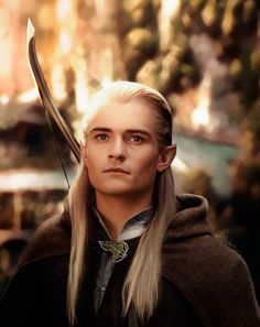 Orlando Bloom as Legolas. He is too beautiful for words
