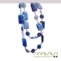 #collar doble con #perlas cultivadas grises de diferentes tamaños y #jaspe del oceano redondo y rectangular. Se puede colocar simple y largo o con varias vueltas. Disponible en tienda online. #necklace #accesorios #verano http://malalam.myshopify.com/collections/collares-2/products/collar-doble-perlas-y-jaspe-del-oceano-1?variant=1035022121
