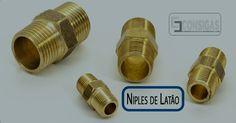 #consigaspecas - Conexões para Gás - Niple Duplo em Latão Rosca NPT, para Instalação de Gás, compre na www.consigaspecas.com.br