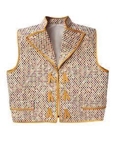 """Chaleco modelo """"cintas"""" en tejido César de la colección Artemisa."""