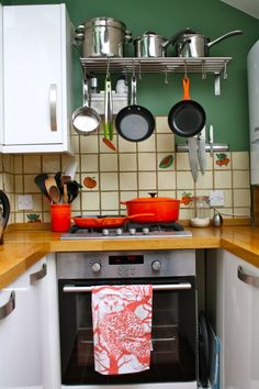 Small kitchen storage ideas- ikea industrial shelving is a must!