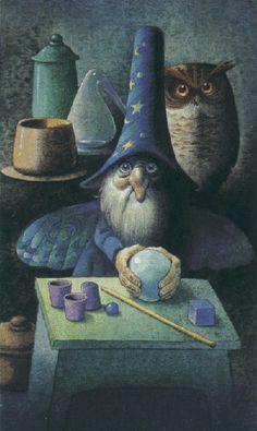 """Carta """"El Mago"""" Tarocchi dei Folletti / Fairy Tarot ilustrado por Antonio Lupatelli & Peter Doyle"""